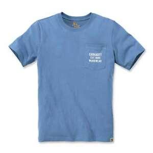 Carhartt-Herren-T-Shirt-Workwear-Pocket-Logo-Graphic-Tee