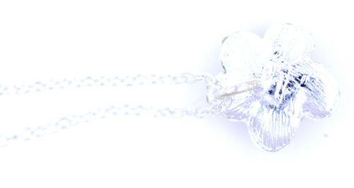 Silver and black enamel rose pendant necklace with crystal