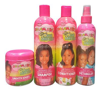 African Pride Dream Kids Olive Miracle Jim feuchtigkeitsspendenden Set 4  Produkte | eBay