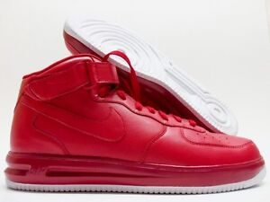huge selection of 6d217 a216c Image is loading NIKE-AIR-FORCE-1-HIGH-ID-034-RED-