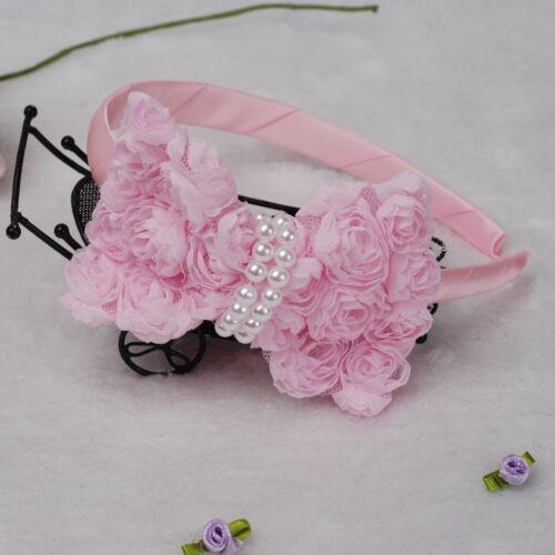 Bridesmaid Flower Girls Party Rose Headbands White Pink