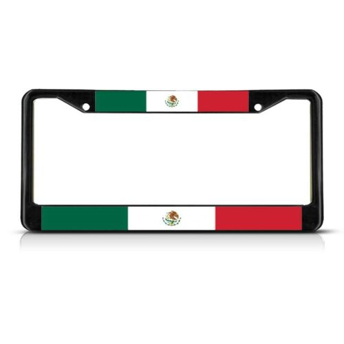 MEXICO FLAG Metal License Plate Frame Tag Border Two Holes