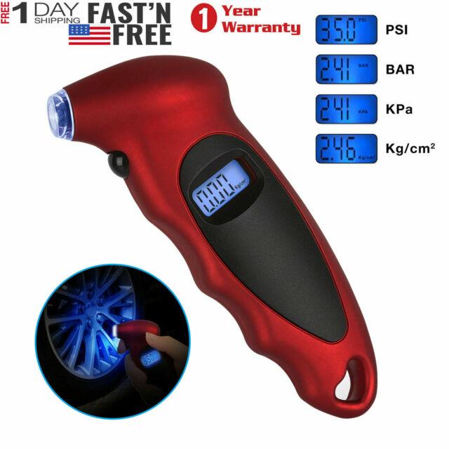 Car Tire Meter Tyre Air Pressure Gauge LCD Multifunctional Emergency Tool