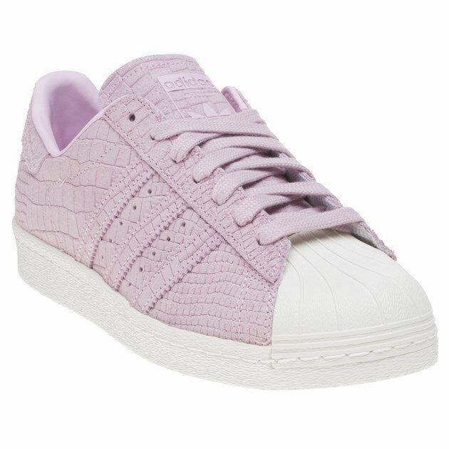 New femmes adidas rose Superstar 80's Suede Trainers Court Lace Up