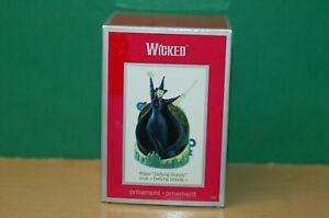 Wicked Carlton Cards Christmas ornament plays Defying Gravity Hallmark 2010