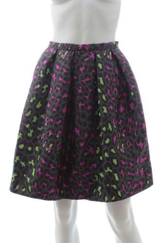 Christopher Kane Leopard-Jacquard Silk Skirt / Pin