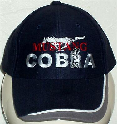 Unisex Berretto Da Baseball Con Ricamo Su Mustang Cobra Auto Logo-mostra Il Titolo Originale Sconto Del 50