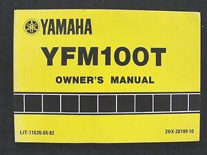 ORIGINAL-1986-1987-YAMAHA-100-YFM100T-ATV-OPERATORS-OWNER-039-S-MANUAL-GOOD-SHAPE