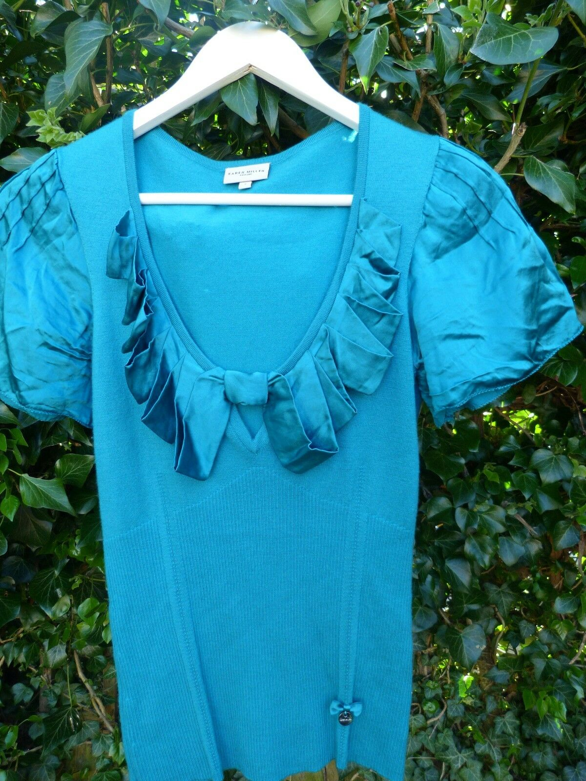 Karen Millen top size medium electic green stunning party