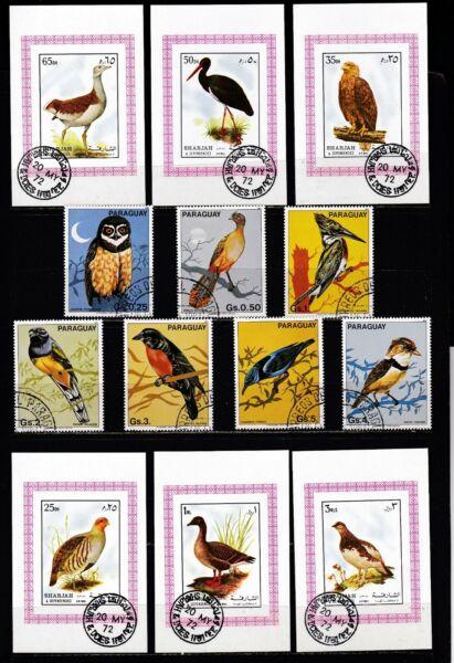 *** Oiseaux *** = = 6 Correspondant Deluxe Mini-feuilles & 7 Stamp Set