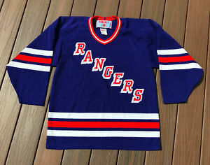 NWOT-Vintage-90s-New-York-Rangers-Hockey-NHL-Jersey-Embroidered-1995-CCM-Blue-M