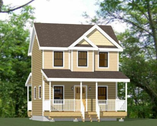 20x16 Tiny House PDF Floor Plan 599 sq ft Model 9