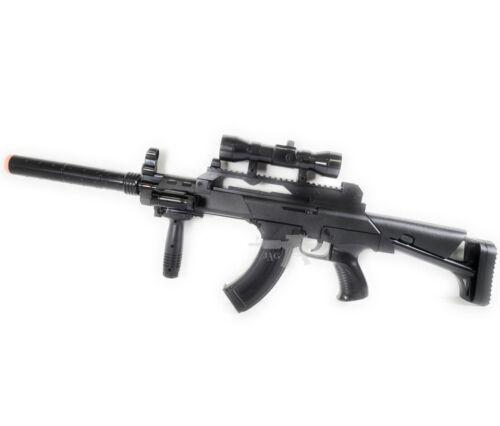 AK-47 Style Super Fun TOY Military Electric Gun Sound Vibration Light Kid 3 Yrs