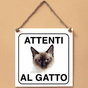 Gatto-Thai-1-Attenti-al-gatto-Targa-gatto-cartello-ceramic-tiles