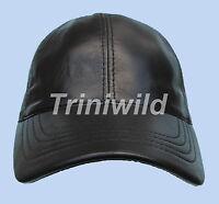 Real Leather Black Brown Grey Red Tan Snapback Baseball Cap