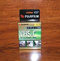 Fujifilm (tc-30) 2 Vhs-c 30 Min Sp Mode 90 Min Ep Mode Premium Videocassettes