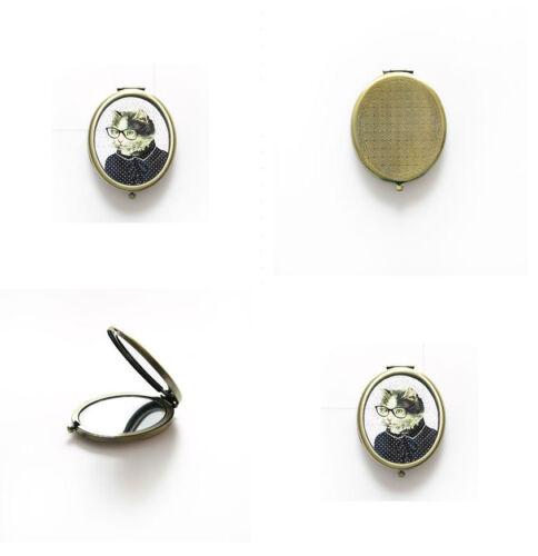 chien habille miroir compact rétro Sass /& belle cadeau pour les amateurs de chat chien Chat