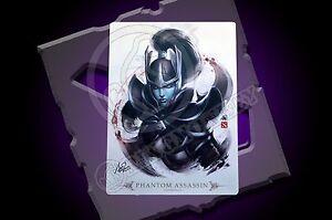 dota 2 dota2 ti artgerm phantom assassin mousepad 14 x19 signed