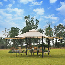 outsunny 20u0027 x 10u0027 gazebo canopy shelter patio wedding party tent outdoor awning