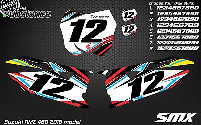 Custom number plates backgrounds Suzuki RMZ 450 2018 graphics AMA MXGP RM-Z450
