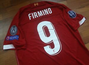 buy popular 5ae15 3beec Details about Authentic Liverpool UCL 2019-20 Red Firmino Original Nameset  Jersey Medium
