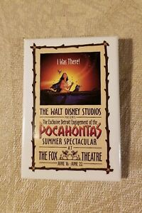 Disney-039-s-I-Was-There-Pocahontas-Button-Pin-Detroit-Fox-Theater-June-16-22-1995