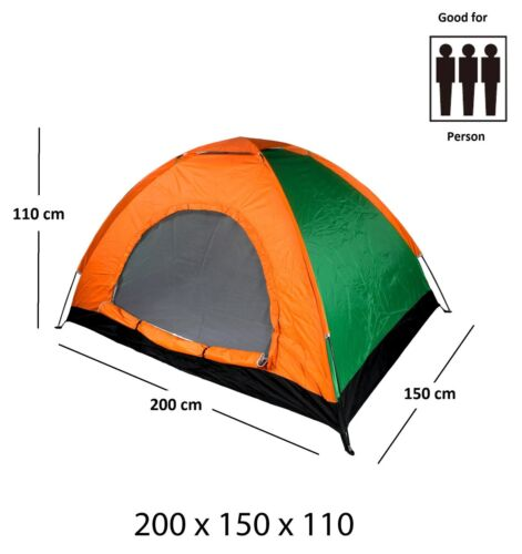2-3 Person Easy Pitch Outdoor Waterproof Portable Dome Camping Backpacking Tent