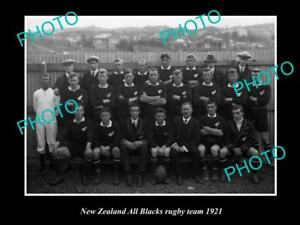 OLD-LARGE-HISTORIC-PHOTO-OF-THE-NEW-ZEALAND-ALL-BLACKS-RUGBY-UNION-TEAM-1921