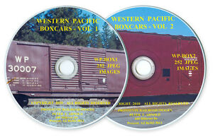WP-SN-TS-Western-Pacific-Railroad-Boxcar-Freight-Car-Slides-on-Two-Photo-CDs