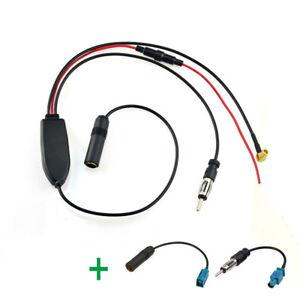 FM-AM-Radio-DAB-DAB-Para-Coche-Antena-Amplificador-Convertidor-Divisor-Y-2x-Cable-FAKRA