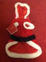 Santa Suit Hood S/m/l Dog Christmas Holiday Apparel Canine Snowflake Design Cat