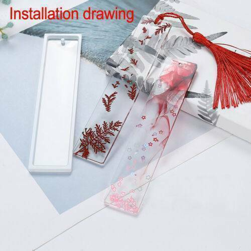 Rectangle Silicone Bookmark Mold DIY Making Epoxy Resin Jewelry Craft Mould DIY