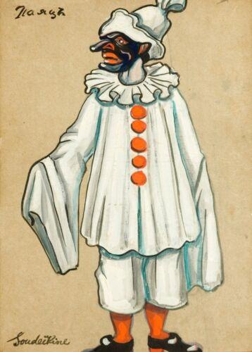 The Jester in Petroushka Costume Design SERGE SUDEIKIN Vintage Ballet Poster
