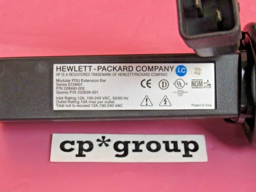 HP 100-240V 12A High Voltage Power Distribution Bar 252638-001 228480-002 EO4601