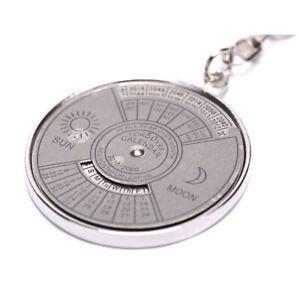 50-Years-Perpetual-Calendar-Keyring-Vintage-Keychain-Silver-Key-Chain-Keyfob-ON