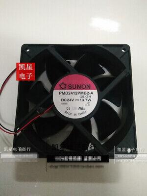 for SUNON PMD2412PMB2-A DC24V 13.7W 12038 12CM Inverter Cooling Fan