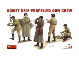 MiniArt-35037-Soviet-Self-Propelled-Gun-Crew-1-35-scale-plastic-model-kit