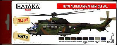 Hataka Hobby Paints ROYAL NETHERLANDS AIR FORCE COLORS Acrylic Paint Set #1