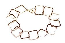 Chic & minimalista quadrato d'Oro Catena & Easy Hoop LOCK Bracciale in metallo (ZX277)