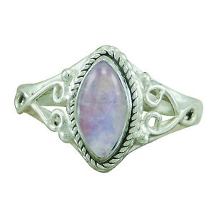 925-Sterling-Silver-New-Look-Rainbow-Moonstone-Designer-New-Ring-SZ-6-7-8-9