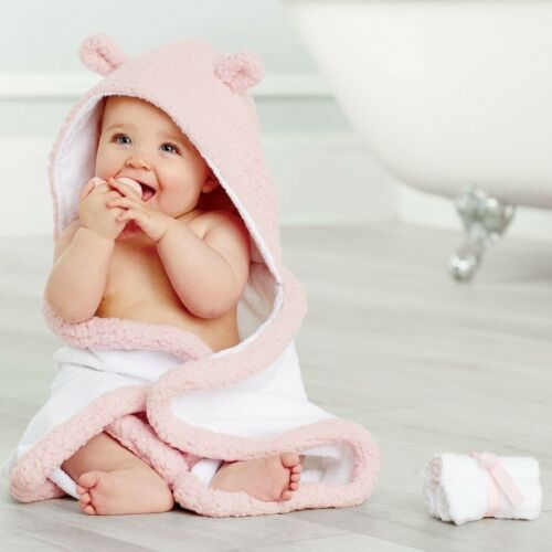 Duck /& Cloth Defect Mud Pie E0 Baby Shower Girl Gifts Boxed Set Pink Bath Towel