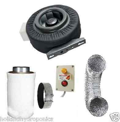 "6"" carbon filter+ducting+duct fan+fan speed controller Hydroponics Grow Tent Kit"