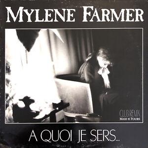 Mylene-Farmer-12-034-A-Quoi-Je-Sers-Original-1989-France-G-G