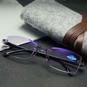 High Hardness Anti-Blue Progressive Far / Near Dual-use Reading Glasses Fold Leg