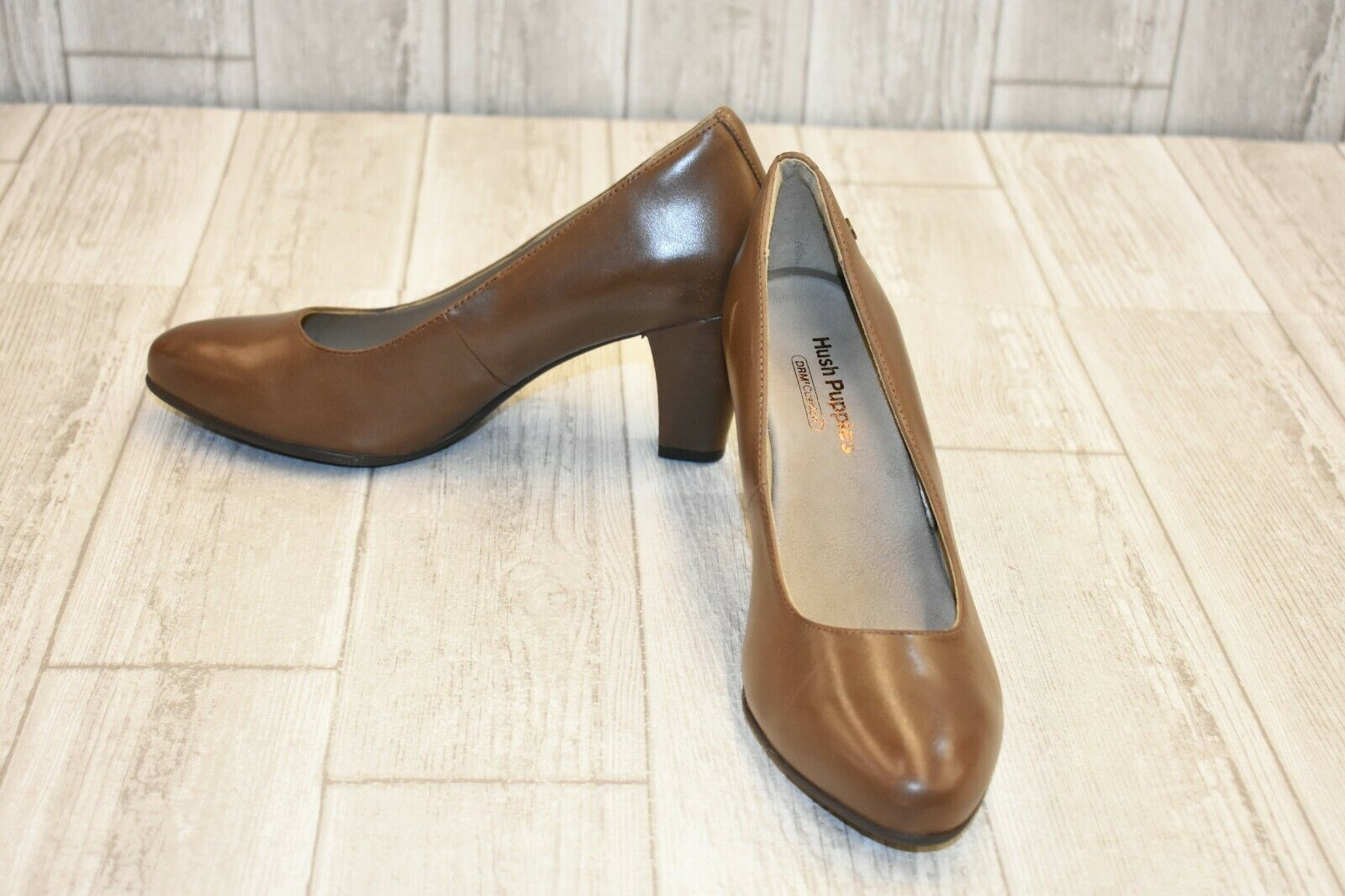 Hush Puppies Minam Meaghan Pump - Women's Size 8.5M - Brown