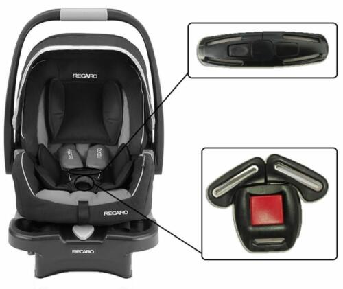 Recaro Infant Baby Car Seats Harness Chest Clip /& Crotch Buckle Safety Set NEW