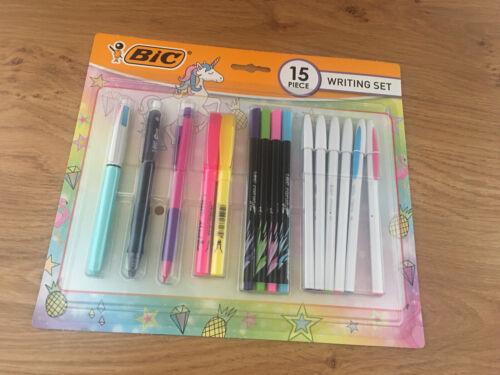 Bic Unicorn Stationery Writing Set 15 Piece New