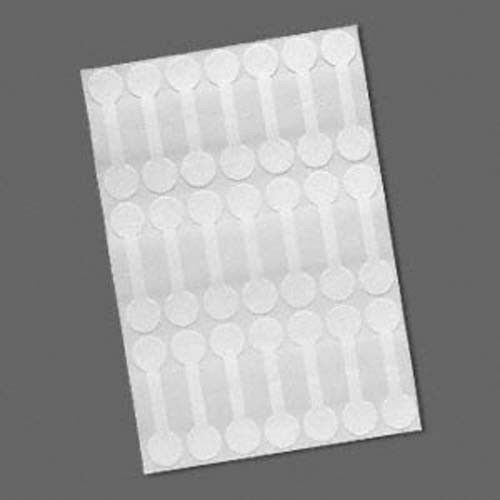 21 White Mylar 1//2 inch Round Shark-Skin Jewelry Adhesive Sticker Label Tags