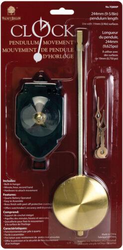 "Pendulum Clock Movement 9.625/""-For .75/"" Surfaces"