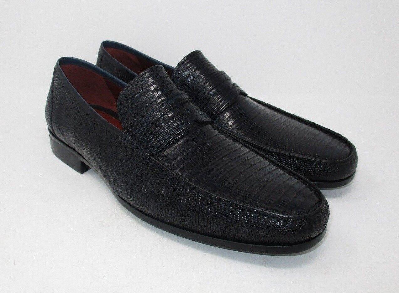 Magnanni Lizard Black Penny Loafers size 46 EU (13 US) 292